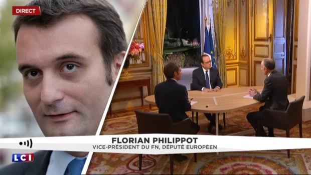 """Intervention de Hollande : Philippot le qualifie de """"porte-parole de la commission de Bruxelles"""""""