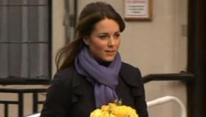 Kate Middelton sortant de l'hôpital à Londres le 6 décembre 2012