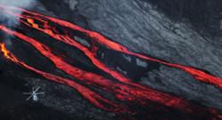 Archives : éruption du Piton de la Fournaise situé sur l'île de la Réunion, le dimanche 17 mai 2015