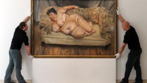 Un tableau du peintre britannique Lucian Freud