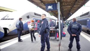 Des agents de sûreté ferroviaire de la SNCF.