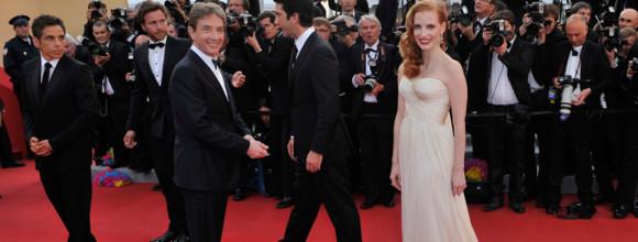 Jessica Chastain Montée des marches Madagascar 3 - Cannes 2012