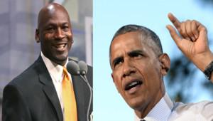 Michael Jordan se moque du niveau de golf de Barack Obama, ce dernier réplique.