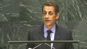 Nicolas Sarkozy s'exprimant devant l'Assemblée générale de l'Onu (22 septembre 2008)