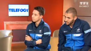 Samir Nasri et Karim Benzema étaient les invités de Téléfoot dimanche matin.