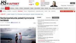 L'article consacré aux deux héroïnes de la tuerie dans la presse finlandaise le 24 juillet 2011.