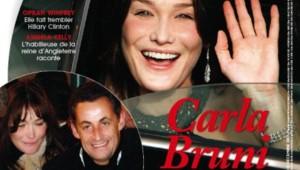 "Nicolas Sarkozy et Carla Bruni en Une de ""Point de vue"" (décembre 2007)"