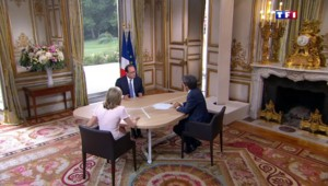 """Pour François Hollande, """"la zone euro est une protection, une sécurité"""""""