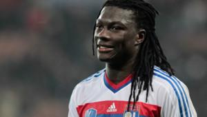 L'attaquant de l'Olympique lyonnais Bafétimbi Gomis lors d'un match en mars 2012