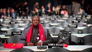 Le délégué de la Guinée-Bissau lors de la conférence de Copenhague en 2009