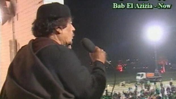 Mouammar Kadhafi à la télévision libyenne (22/03/2011)