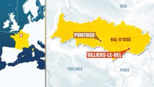 Carte - Villiers-le-Bel (Val-d'Oise).
