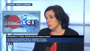 """Emmanuelle Cosse : Nicolas Sarkozy """"utilise les homosexuels pour des vues politiciennes"""""""