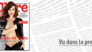 Keira Knightley en couverture du magazine Allure, décembre 2012.