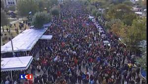 Manifestations anti-crise à Salonique : le président contraint de quitter les lieux