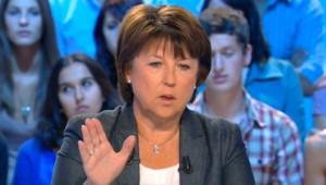 Martine Aubry sur le plateau de Canal+ (30 août 2011)