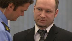 Anders Behring Breivik, le 18/4/12, au 3e jour de son procès
