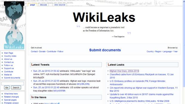 Capture écran du site Wikileaks