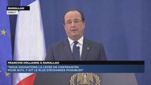 François Hollande à Ramallah
