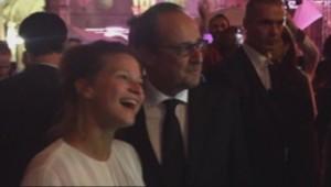 François Hollande et Shella Sue au Fnac live festival