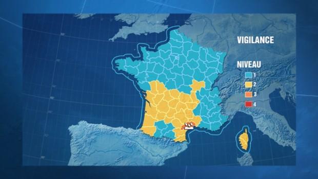 Carte de vigilance de Météo France (01/11/2011)