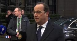 """Hollande à Bruxelles : """"Il faut qu'il y ait un accord qui permette d'engager un plan d'action entre l'Europe et la Turquie"""""""