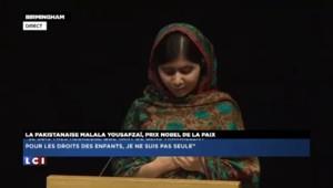 """Malala, prix Nobel de la paix : """"C'est un message d'amour entre le Pakistan et l'Inde"""""""