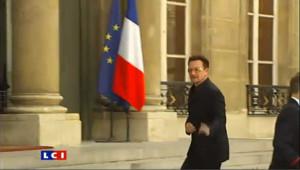 Bono reçu à l'Elysée par Nicolas Sarkozy