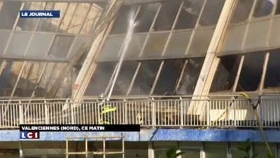 La piscine municipale de Valenciennes partie en fumée