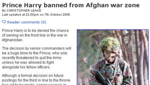 TF1 / LCI L'article du Mail on Sunday sur le Prince Harry