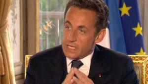 Nicolas Sarkozy était l'invité du JT de TF1 mercredi 20 juin
