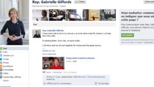 Page Facebook de Gabrielle Giffords, 23/1/12
