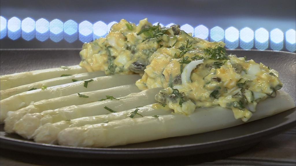 Asperges blanc sauce gribiche petits plats en equilibre - Recette cuisine tf1 petit plat en equilibre ...