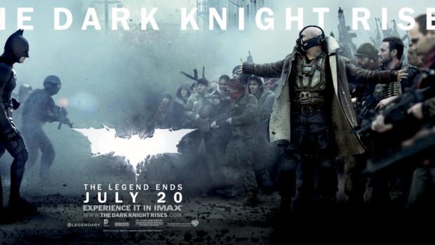 The Dark Knight Rises de Christopher Nolan. Avec Christian Bale et Tom Hardy.