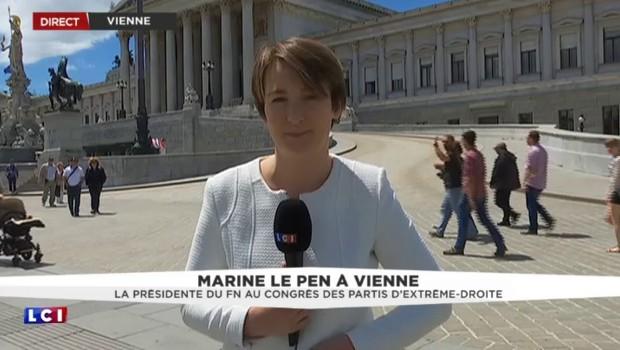 Marine Le Pen à Vienne s'affiche avec la famille des partis d'extrême-droite