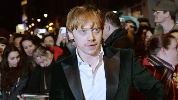 Rupert Grint lors de la soirée des What'sOnStage Awards à Londres en février 2014