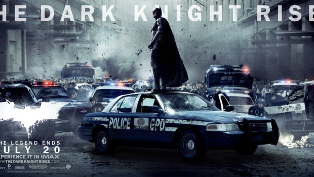 Affiche The Dark Knight Rises de Christopher Nolan. avec Christian Bale.