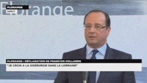 François Hollande à Florange le 26 septembre 2013