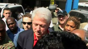 Bill Clinton à Port-au-Prince (5 février 2010)