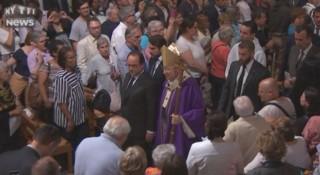 Messe à Notre-Dame : Hollande et Mgr Vingt-Trois applaudis par les fidèles