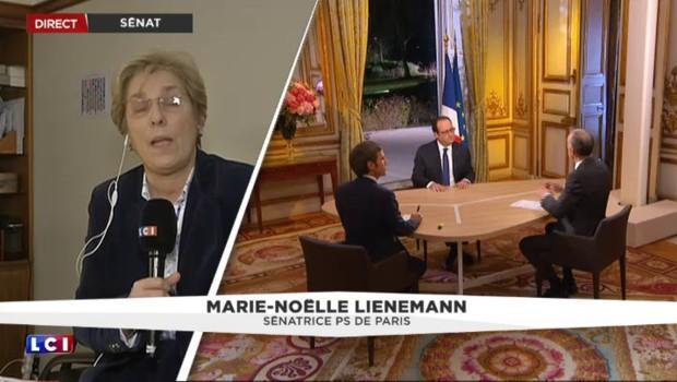 """Intervention de Hollande : la sénatrice Lienemann """"frappée"""" par le fossé avec les Français"""