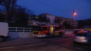 La maison de retraite incendiée à Marseille.