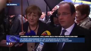 """Hollande : """"La pluie, j'y suis habitué depuis deux ans"""""""