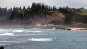 L'île de Norfolk au large de l'Australie où les marins révoltés du Bounty (XVIIIe siècle) avaient élu domicile