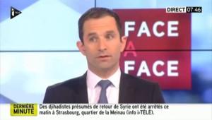 """Opération anti-jihadiste à Strasbourg : des interpellés """"potentiellement dangereux"""" selon Hamon"""
