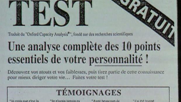 Test personnalité Scientologie