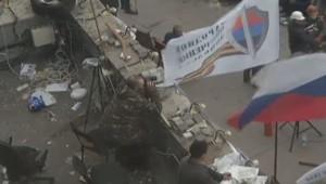 Ukraine : séparatistes pro-russes à Donetsk, 10/4/14