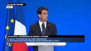 """Valls : """"Il n'est pas question de banaliser le travail le dimanche"""""""