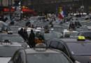 Des taxis à la Porte Maillot le 26/01/16