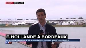 François Hollande reçu ce dimanche par Alain Juppé au salon du vin de Bordeaux